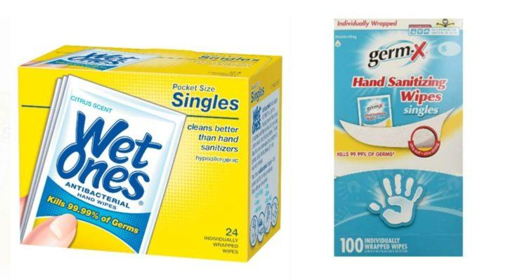 wet wipes and germ-x wipes