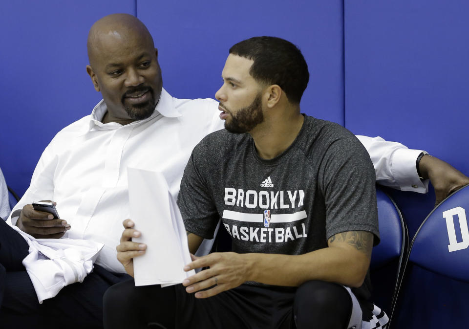 Billy King (left) lost his role as the Nets' general manager. (AP)