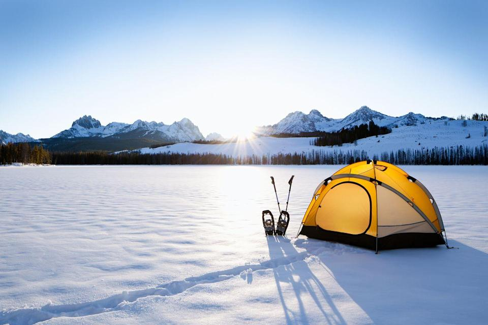 """<p>Getting out into the great outdoors is a great way to become closer with your S.O., while keeping a safe physical distance from others.</p><p> """"Considering that quarantine has required many people to be online more, a camping trip can be especially helpful in disconnecting in order to reconnect with each other,"""" says Lozano. """"Nature can be very healing, so a weekend camping date can do wonders for your mental health, which in turn can be restorative for your relationship."""" And yes, you can camp in the winter! Some peeps even prefer it since there are fewer bugs.</p>"""