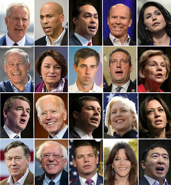 Twenty candidates vying for the 2020 Democratic presidential nomination are participating in the party's debates June 26-27, 2019 in Miami, Florida (AFP Photo/Eva Claire HAMBACH)