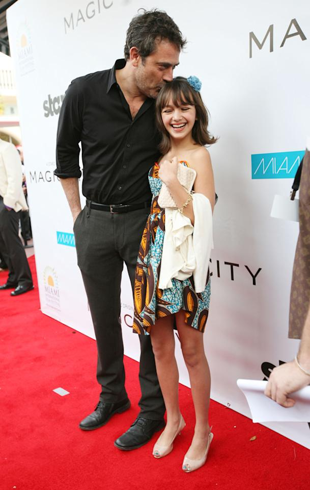 """Jeffrey Dean Morgan and Taylor Blackwell attend the """"<a target=""""_blank"""" href=""""http://tv.yahoo.com/magic-city/show/46996"""">Magic City</a>"""" premiere at Colony Theater on March 4, 2012 in Miami Beach, Florida."""