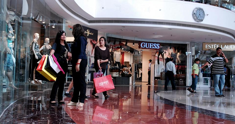 NEW DELHI, INDIA MAY 17, 2010: Inside view of Select Citywalk Mall in New Delhi. (Photo by Pradeep Gaur/Mint via Getty Images)