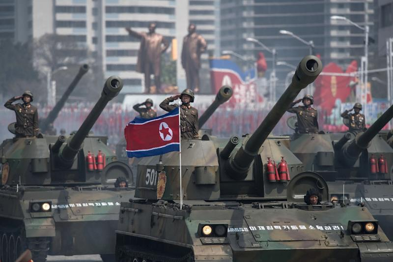 North Korea says it is ready to defend itself from attack by the US and has accused President Donald Trump of declaring war against the regime (AFP Photo/Ed JONES)