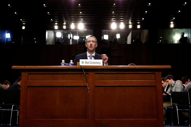 Facebook CEO Mark Zuckerberg testifies before a joint Senate Judiciary and Commerce Committees hearing: Reuters