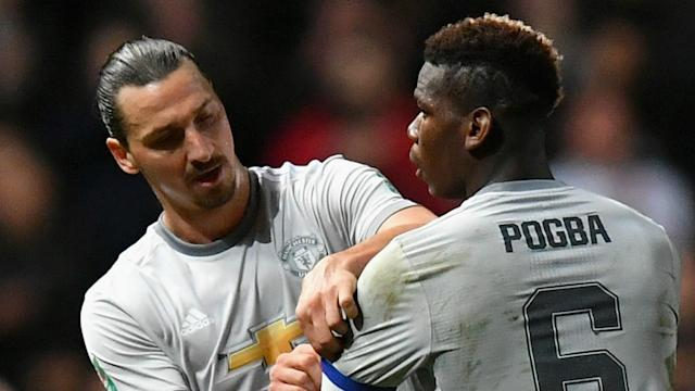 The France international midfielder missed the win over Huddersfield due to illness, while Ibrahimovic has been absent since December