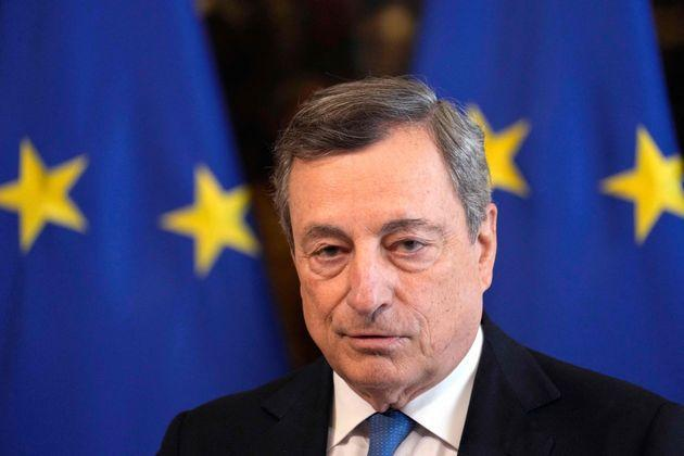Italy's Prime Minister, Mario Draghi listens to questions during a joint press conference with the German chancellor following their meeting at Palazzo Chigi in Rome on October 7, 2021. (Photo by Andrew Medichini / POOL / AFP) (Photo by ANDREW MEDICHINI/POOL/AFP via Getty Images) (Photo: ANDREW MEDICHINI via Getty Images)