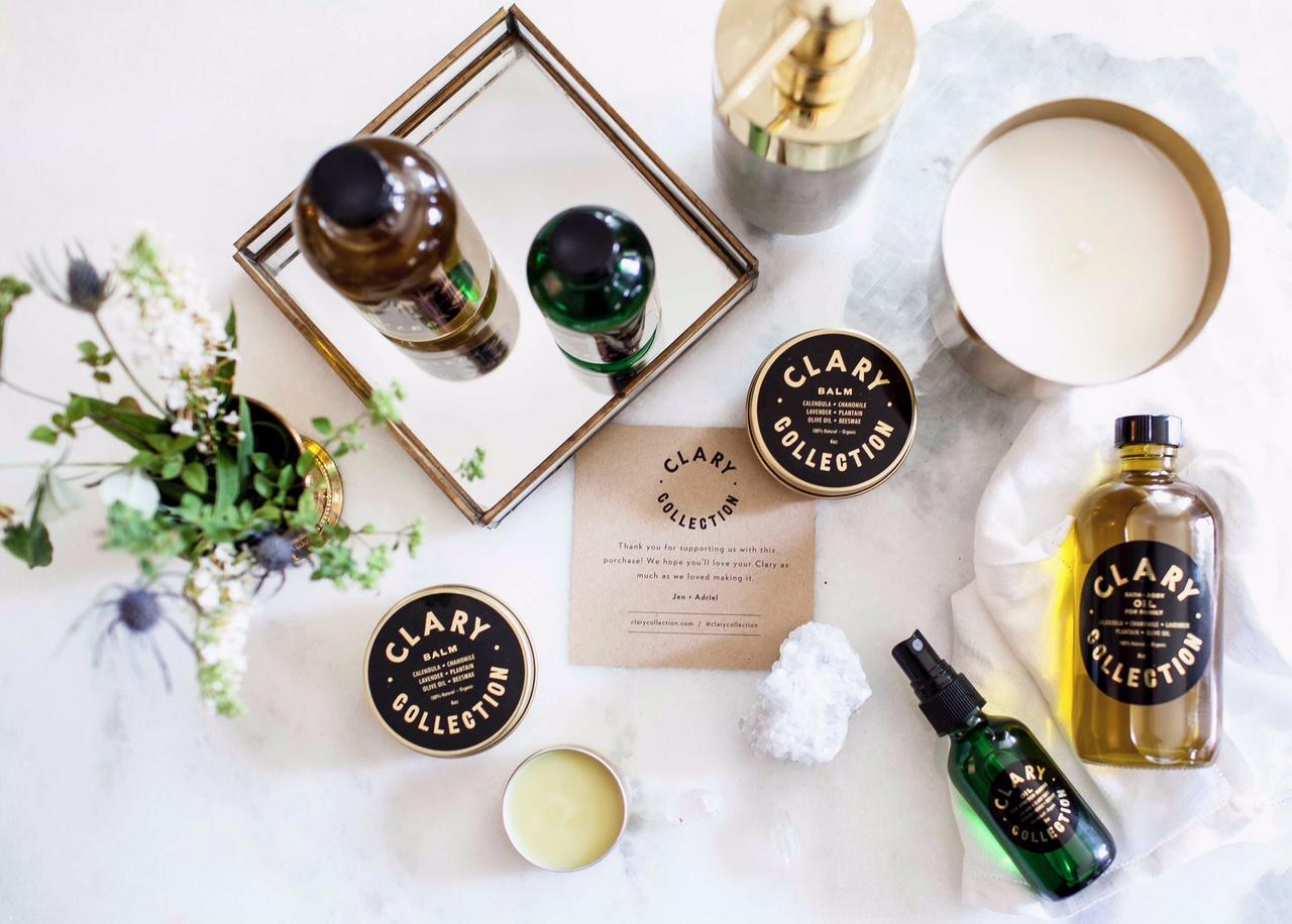 "<p><a rel=""nofollow"" href=""https://clarycollection.com/"">Clary Collection</a> </p><p>Founded by two friends Jen and Adriel, this true organic skincare line using properties of native plants found in the Tennessee, Illinois, Wisconsin and Australia combined with oils from South and North America. </p><p></p>"