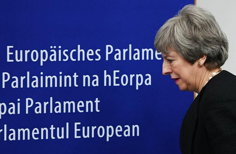 The PM is facing growing pressure to name her departure date (Getty)