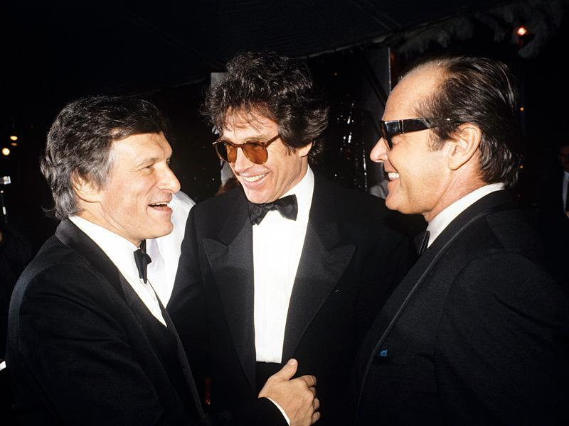 "Boys' Night Out""They both love women,"" says Hefner of former Mansion fixtures Warren Beatty and Jack Nicholson (pictured in 1986)."