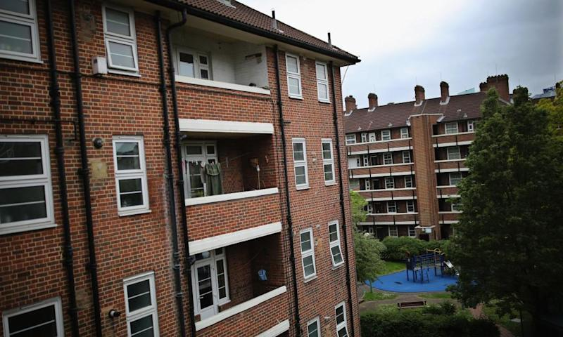 A general view of Matilda House in Wapping which is made up of private tenancy and Housing Association homes