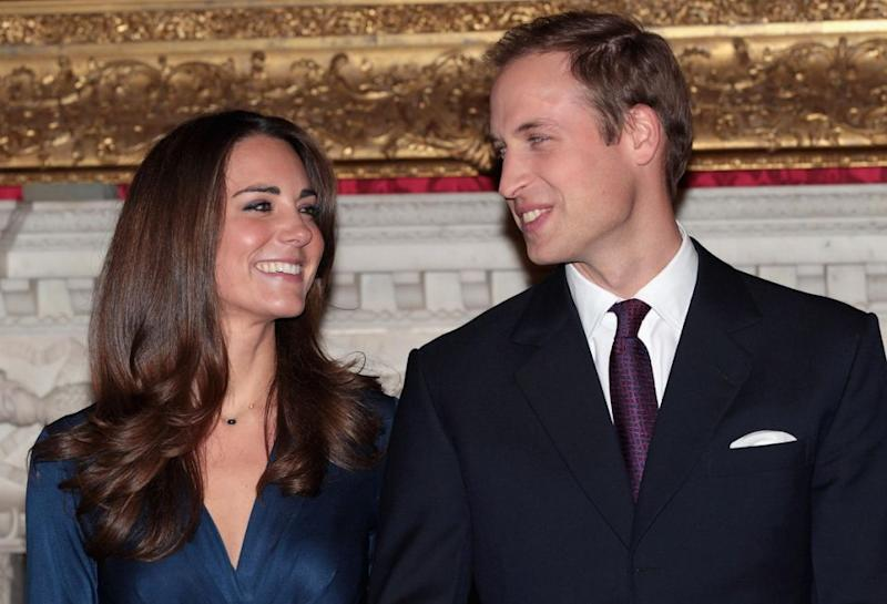 Smug lovebirds Kate and Wills kept their engagement a secret for a month before announcing it. Photo: Getty