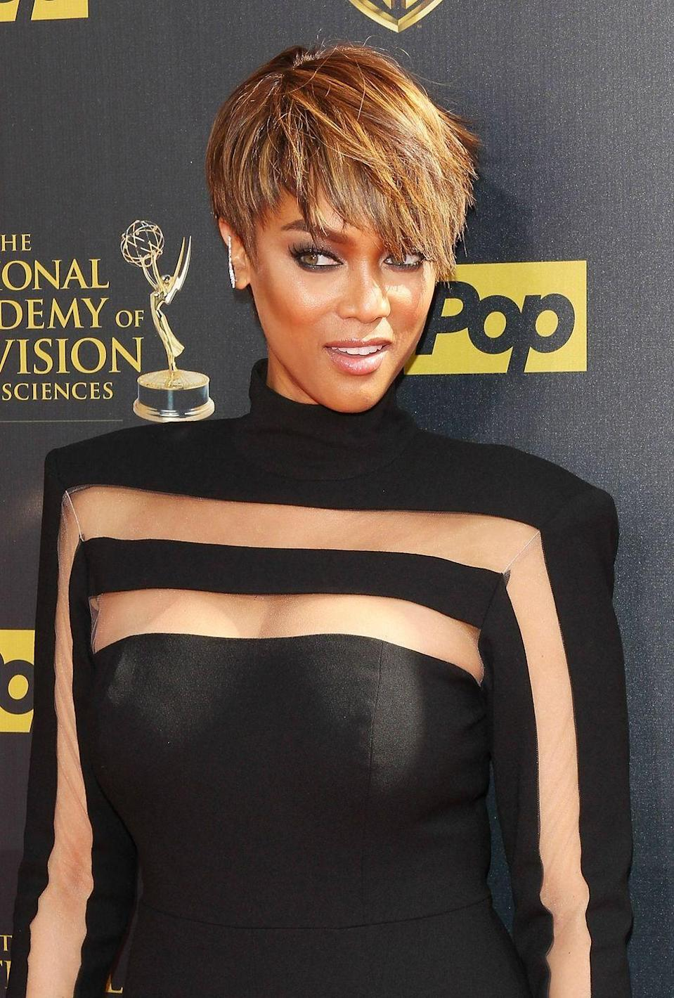 <p>Feeling adventurous? Try out supermodel <strong>Tyra Banks</strong>' shimmery pixie by asking your stylist for multiple shades of gold and light brown highlights.</p>