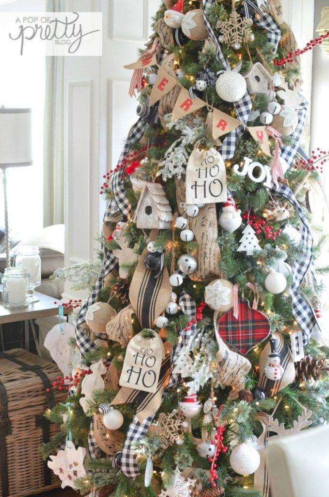 """<p>Is anything cozier than Christmas in a rustic cottage? Bring the theme to your home by adding plaid and wood ornaments to our tree.</p><p><strong><em>Get the tutorial at <a href=""""https://apopofpretty.com/cottage-christmas-tour-2015/"""" rel=""""nofollow noopener"""" target=""""_blank"""" data-ylk=""""slk:A Pop of Pretty"""" class=""""link rapid-noclick-resp"""">A Pop of Pretty</a>.</em></strong></p><p><a class=""""link rapid-noclick-resp"""" href=""""https://www.amazon.com/WEWILL-Plaid-Christmas-Ornament-Decoration/dp/B071CT8L5Z/?tag=syn-yahoo-20&ascsubtag=%5Bartid%7C10070.g.2025%5Bsrc%7Cyahoo-us"""" rel=""""nofollow noopener"""" target=""""_blank"""" data-ylk=""""slk:BUY PLAID ORNAMENTS"""">BUY PLAID ORNAMENTS</a><strong><br></strong></p>"""