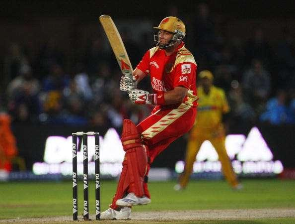 PORT ELIZABETH, SOUTH AFRICA - APRIL 20: Jacques Kallis of Bangalore hits out during IPL T20 match between Chennai Super Kings and Royal Challengers Bangalore at St Georges Cricket Ground on April 20, 2009 in Port Elizabeth, South Africa. (Photo by Tom Shaw/Getty Images)