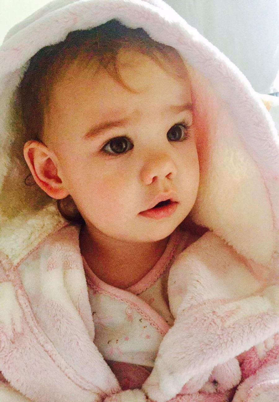A very sweet shock at seven months (Supplied, Rachael Twigg)