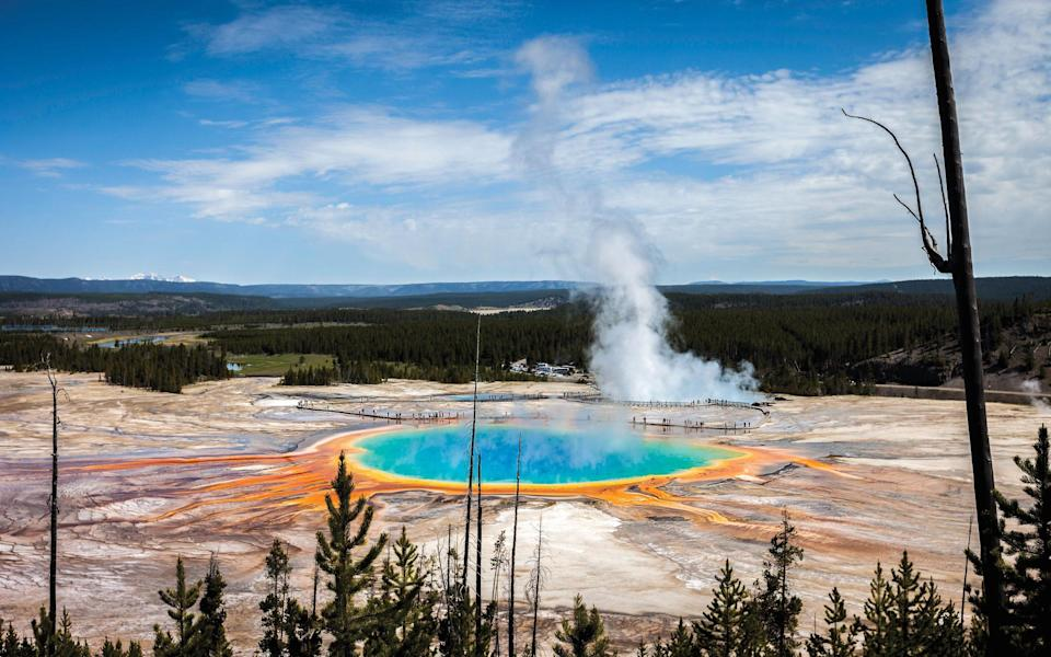 A geyser at Yellowstone National Park - Getty