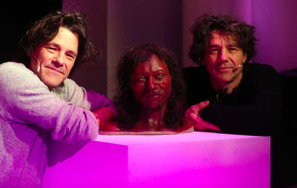 <em>'Paleo artists' Alfons and Adrie Kennis created the 3D model of Cheddar Man (PA)</em>