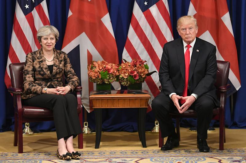 Donald Trump has opened a war of words with prime minister Theresa May's government (Picture: PA)