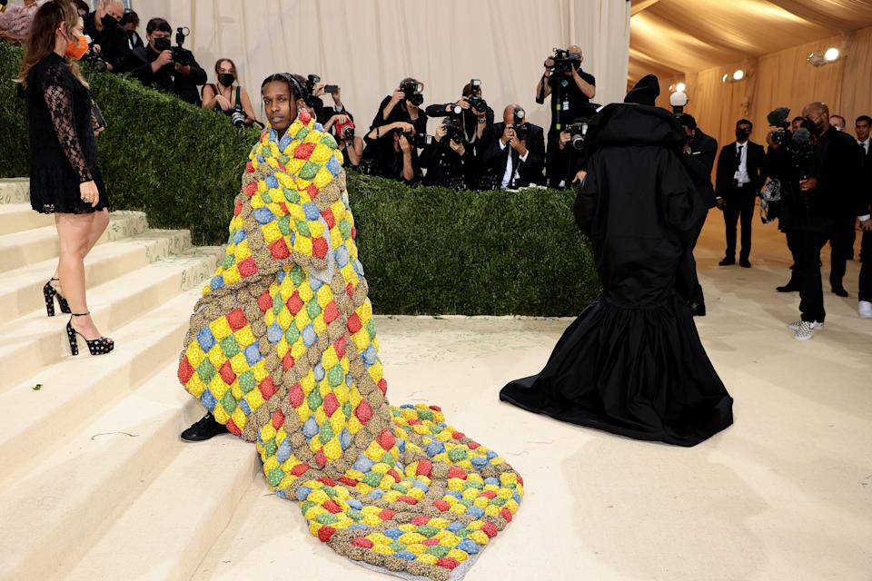 ASAP Rocky attends The 2021 Met Gala Celebrating In America: A Lexicon Of Fashion at Metropolitan Museum of Art on Sept. 13, 2021 in New York.