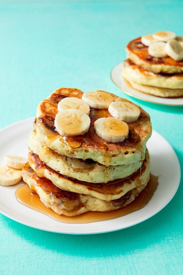 """<p>Make mom the fluffy pancakes she deserves. </p><p>Get the recipe from <a href=""""https://www.delish.com/cooking/recipe-ideas/a19880159/banana-pancake-recipe/"""">Delish.com</a>. </p><p><a class=""""body-btn-link"""" href=""""https://www.amazon.com/Cuisinart-622-30G-Classic-Nonstick-Hard-Anodized/dp/B0078P9D8K"""" target=""""_blank"""">BUY NOW</a> <strong><em>Cuisinart Nonstick Skillet, $32, amazon.com</em></strong><br></p>"""