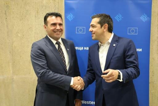 Winning the name game? Macedonia's premier Zoran Zaev says he and his Greek counterpart Alexis Tsipras he has agreed with his Greek counterpart Alexis Tsipras have found a solution to end the countries' long-running row