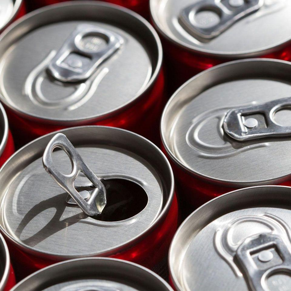 """<p>Sure, swapping full-fledged sodas for the diet stuff saves calories and sugar. But """"zero calories doesn't mean zero impact on your body,"""" says Christy Brissette, R.D., president of <a href=""""http://www.80twentynutrition.com/"""" rel=""""nofollow noopener"""" target=""""_blank"""" data-ylk=""""slk:80 Twenty Nutrition"""" class=""""link rapid-noclick-resp"""">80 Twenty Nutrition</a>. </p><p>Sugar substitutes can cause bloating and gas, and some research has even found that drinking diet sodas <a href=""""https://www.nature.com/articles/1602649"""" rel=""""nofollow noopener"""" target=""""_blank"""" data-ylk=""""slk:might promote"""" class=""""link rapid-noclick-resp"""">might promote</a> overeating and lead to weight gain, as well as <a href=""""https://www.ncbi.nlm.nih.gov/pubmed/17023723"""" rel=""""nofollow noopener"""" target=""""_blank"""" data-ylk=""""slk:increase your risk"""" class=""""link rapid-noclick-resp"""">increase your risk</a> of osteoporosis and <a href=""""https://plan.core-apps.com/eb2018/abstract/382e0c7eb95d6e76976fbc663612d58a"""" rel=""""nofollow noopener"""" target=""""_blank"""" data-ylk=""""slk:possibly even"""" class=""""link rapid-noclick-resp"""">possibly even</a> type 2 diabetes.</p>"""