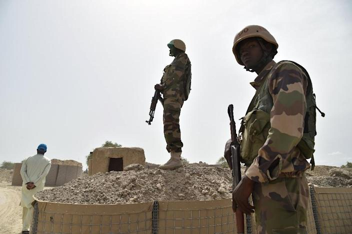 """""""We have 15 dead and 19 wounded in our ranks,"""" said Colonel Toure Seydou Albdoula Aziz, a Niger army spokesman (AFP Photo/ISSOUF SANOGO)"""