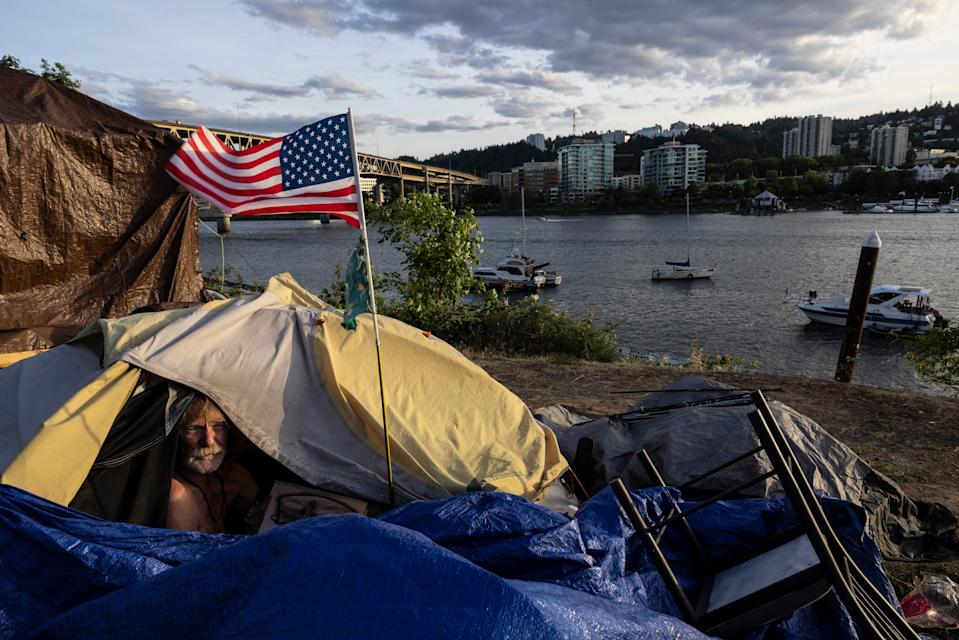 Portland Homeless Wildfires (Copyrighht 2021 The Associated Press. All rights reserved)