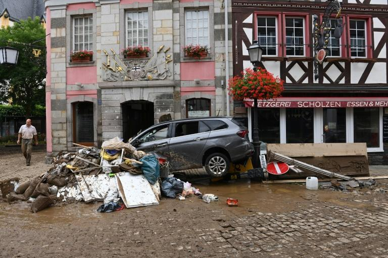 Western Germany faces a massive clean up from the floods which have killed at least 108 people, with another 20 dead in Belgium