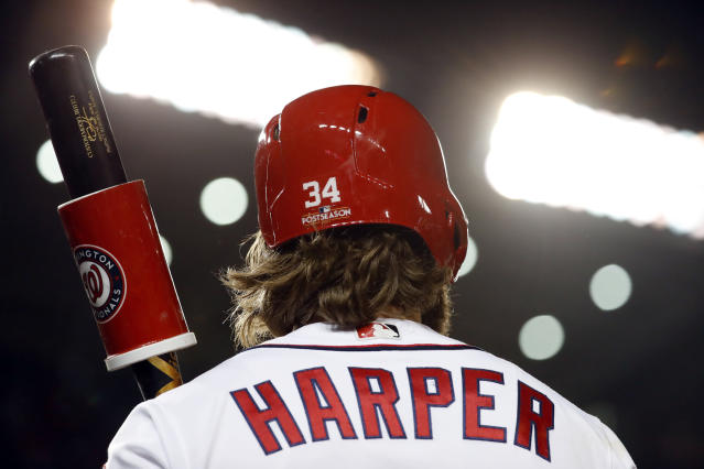 Nationals fans may want to savor this image while it is still accurate. (AP Photo/Alex Brandon)