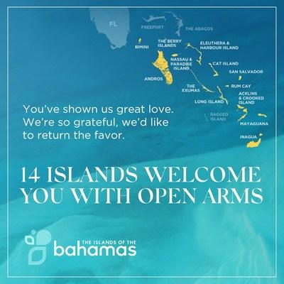 Airports, cruise ports, hotels and attractions throughout the Northern, Central and Southern Bahamas are open and operating.