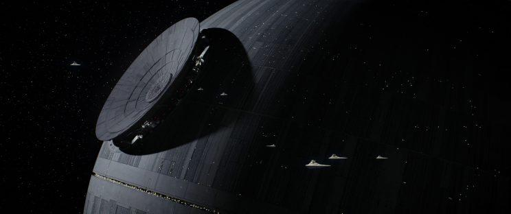 The dish is moved into place on the Death Star (Photo: Lucasfilm)