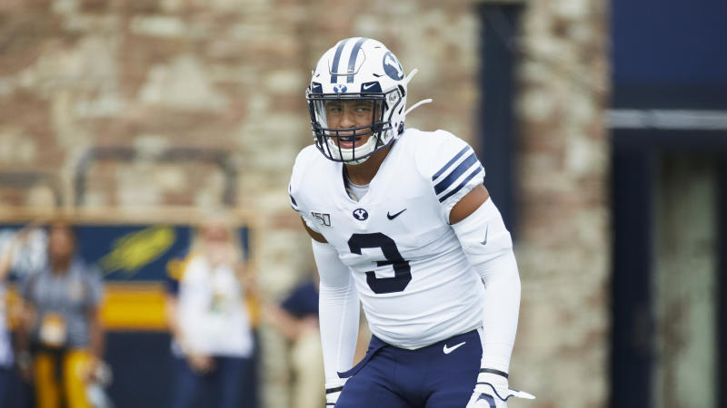 BYU LB Chaz Ah You had 31 tackles in 2019. (AP Photo/Rick Osentoski)
