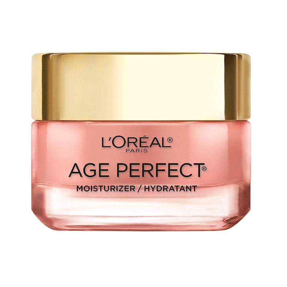 """Helen Mirren swears by this moisturizer, which helps mature skin look instantly awake and fresh thanks to gentle exfoliation and its rosy pink tone that balances out any sallowness that can come with age. """"If you really don't feel like wearing any makeup—because some days you just don't want to put anything on your face, right?—the rosy moisturizer is really nice,"""" the 75-year-old actor (who's also an ambassador for the brand) told <a href=""""https://www.glamour.com/story/helen-mirren-big-beauty-questions?mbid=synd_yahoo_rss"""" rel=""""nofollow noopener"""" target=""""_blank"""" data-ylk=""""slk:Glamour"""" class=""""link rapid-noclick-resp""""><em>Glamour</em></a>. $17, Amazon. <a href=""""https://www.amazon.com/Moisturizer-LOreal-Paris-Anti-Aging-Non-greasy/dp/B01M09QQI0?"""" rel=""""nofollow noopener"""" target=""""_blank"""" data-ylk=""""slk:Get it now!"""" class=""""link rapid-noclick-resp"""">Get it now!</a>"""