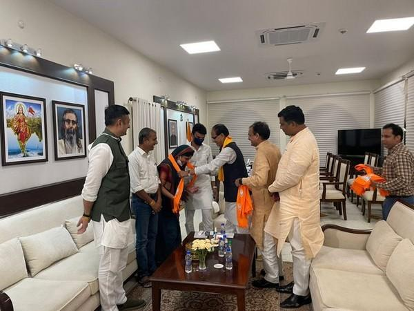 Congress leader Sulochana Rawat and her son joined BJP on Saturday.
