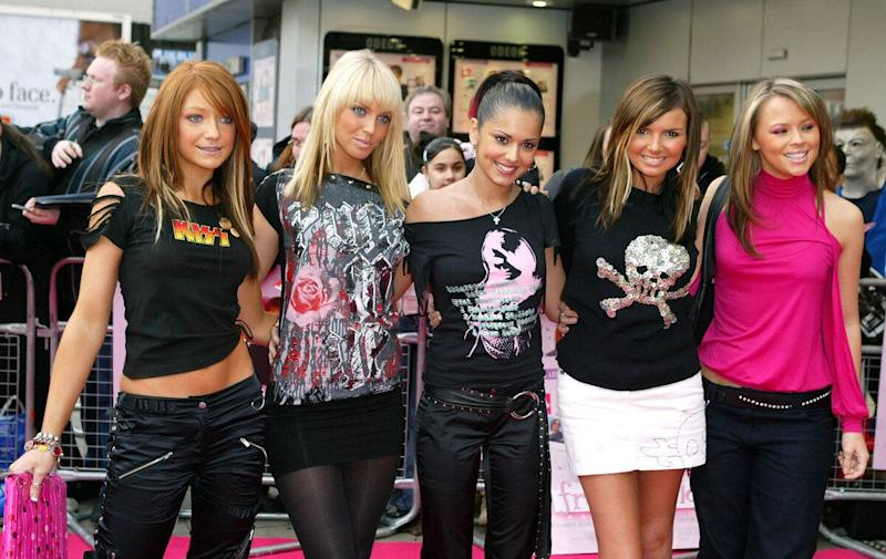GIRLS ALOUD ATTEND THE 'FREAKY FRIDAY' PREMIERE IN LONDON.PICTURE: UK PRESS