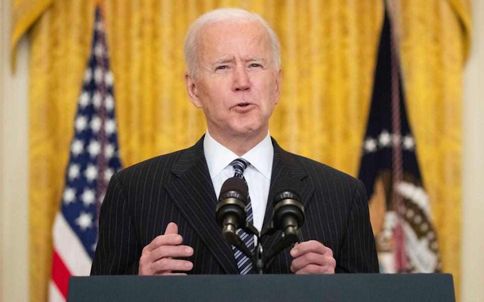 US President Joe Biden delivers remarks on the state of COVID-19 vaccinations