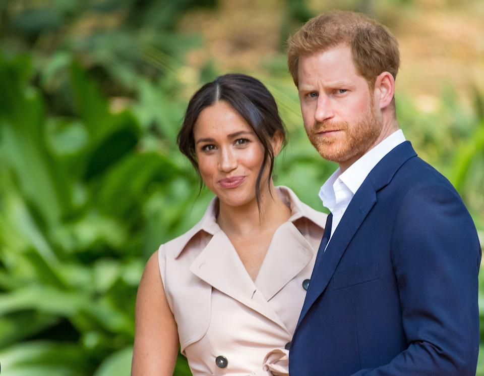 A new clip of Prince Harry and Meghan Markle, who�s pregnant with their second child after Archie, during their bombshell tell-all interview with Oprah Winfrey after quitting their Royal Job, shows Meghan, Duchess of Sussex finally feeling free and ready to talk about being blocked from having her voice by royal aides. The clip aired on CBS This Morning ahead of premiere on US network on Sunday night. (Photo by DPPA/Sipa USA)