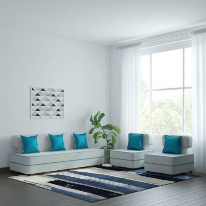 "Now wait a minute, before you yell 'hell no', hear us out. The trick to buying white couches or sofas is getting the right material. Something like leather is easier to clean with a damp cloth, like this <a href=""https://fave.co/2zZV4Ut"">Bharat Lifestyle Butterfly Leatherette White & Blue Sofa Set</a> (available at a discounted price of Rs. 20,999 for the entire set of 3+1+1). If you think it's too basic then add some colour with the form of pillows."