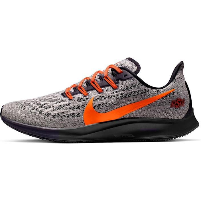 Men's Nike Gray/Orange Oklahoma State Cowboys Air Zoom Pegasus 36 Sneakers