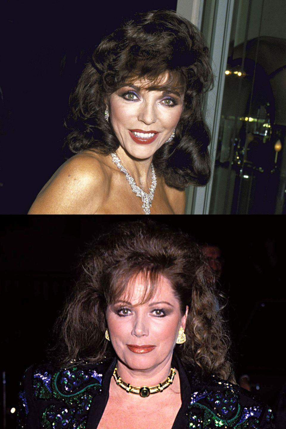 "<p><em>Dynasty </em>soap star Joan Collins and her salacious novelist sister Jackie Collins were known for their sibling rivalry. It <a href=""http://www.latimes.com/local/la-me-ln-jackie-and-joan-collins-rivalry-friendship-and-sisterhood-20150919-htmlstory.html"" rel=""nofollow noopener"" target=""_blank"" data-ylk=""slk:reportedly came to a head"" class=""link rapid-noclick-resp"">reportedly came to a head</a> when Joan stepped on Jackie's toes by securing a multimillion-dollar book deal with Jackie's publisher. The ladies always saved face in the press though, with Jackie <a href=""http://articles.latimes.com/print/1988-03-18/news/li-1856_1_jackie-collins"" rel=""nofollow noopener"" target=""_blank"" data-ylk=""slk:telling the Los Angeles Times"" class=""link rapid-noclick-resp"">telling the <em>Los Angeles Times</em></a> they're ""perfectly good friends."" Sure.</p>"