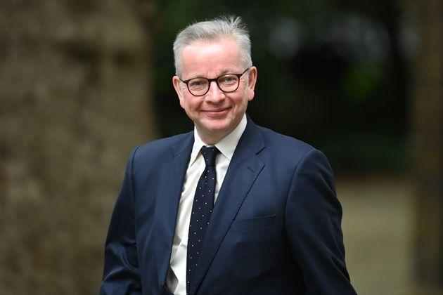 LONDON, ENGLAND - SEPTEMBER 15:  Michael Gove, Minister for the Cabinet Office and Chancellor of the Duchy of Lancaster, arrives in Downing Street on September 15, 2021 in London, England. The British prime minister replaced several cabinet ministers shortly after introducing his social care plan and a corresponding tax rise that is unpopular with some members of his party. (Photo by Leon Neal/Getty Images) (Photo: Leon Neal via Getty Images)