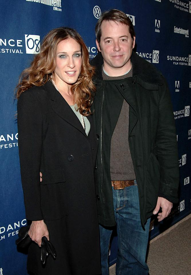 "Sarah's hubby Matthew Broderick was also at Sundance to not only show support for his wife, but for his own film, ""Diminished Capacity."" George Pimentel/<a href=""http://www.wireimage.com"" target=""new"">WireImage.com</a> - January 20, 2008"