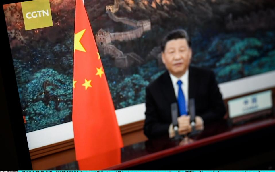 CGTN airs a programme in the UK featuring President Xi Jinping of China - Getty Images Europe