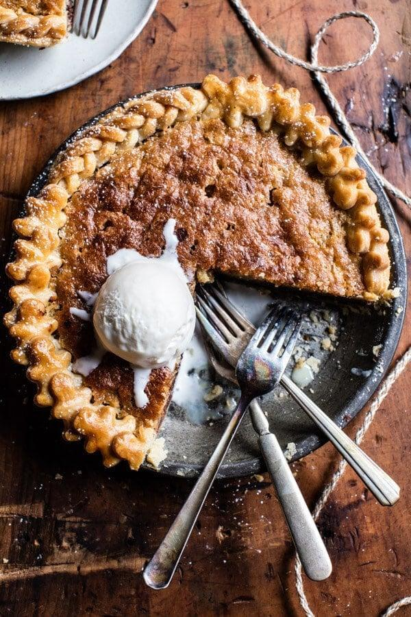 "<p>Just seeing the name of this recipe is enough to get us in the kitchen! You can make your own crust or grab one from the store - the results will be amazing either way. Then, whip up the eight-ingredient filling, and you'll be noshing on this in no time.</p> <p><strong>Get the recipe</strong>: <a href=""https://www.halfbakedharvest.com/gooey-chocolate-chip-cookie-pie/"" class=""link rapid-noclick-resp"" rel=""nofollow noopener"" target=""_blank"" data-ylk=""slk:gooey chocolate-chip cookie pie"">gooey chocolate-chip cookie pie</a></p>"
