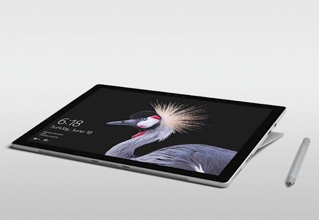 The Surface Pro with its new hinge.