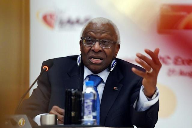 Lamine Diack is accused of turning a blind eye to Russian doping in return for payment (AFP Photo/Greg Baker)