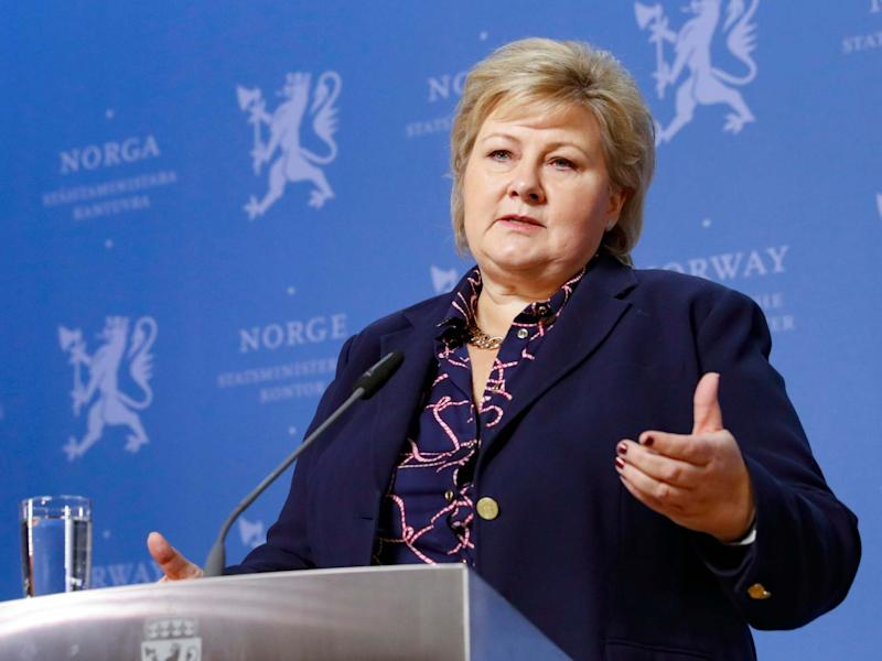Norway's Conservative prime minister, Erna Solberg, said she would continue with a minority government comprised of three coalition parties: AP