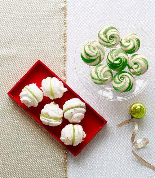 """<p>Easy to make, airy, and bright with peppermint flavor, these are sure to disappear quickly!</p><p><strong><a href=""""https://www.countryliving.com/food-drinks/recipes/a34487/peppermint-swirl-meringues-recipe-ghk1213/"""" rel=""""nofollow noopener"""" target=""""_blank"""" data-ylk=""""slk:Get the recipe"""" class=""""link rapid-noclick-resp"""">Get the recipe</a>.</strong> </p>"""