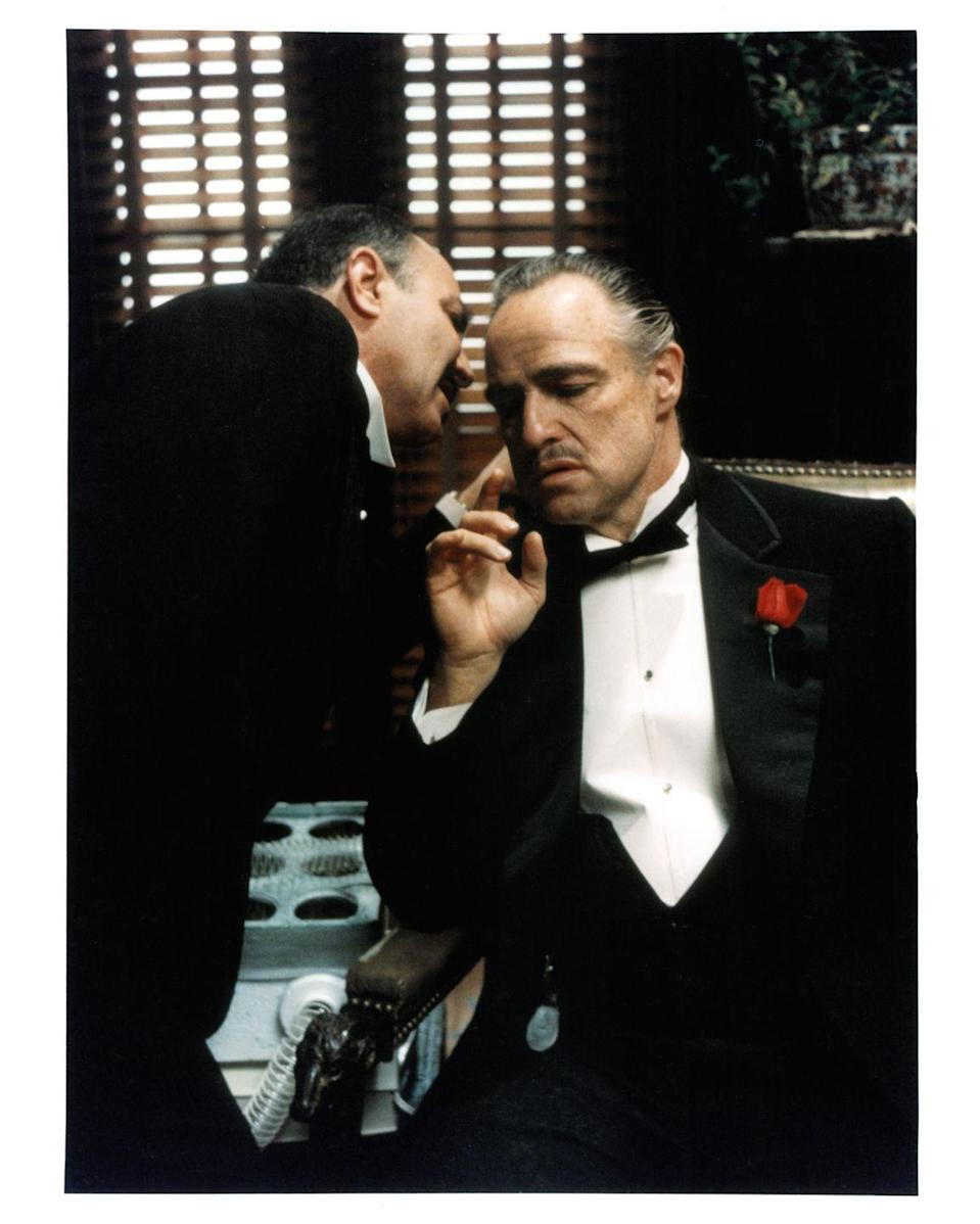 <p>Actor Marlon Brando took on the role of the head of the family, Don Vito Corleone, in the first film. </p>